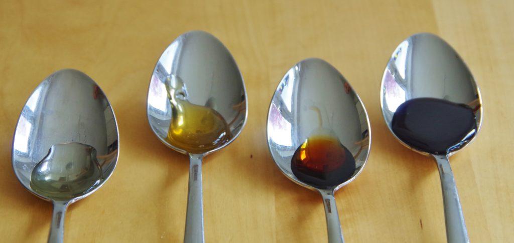 Honig, Agavendicksaft, Apfeldicksaft Zuckerrübensirup