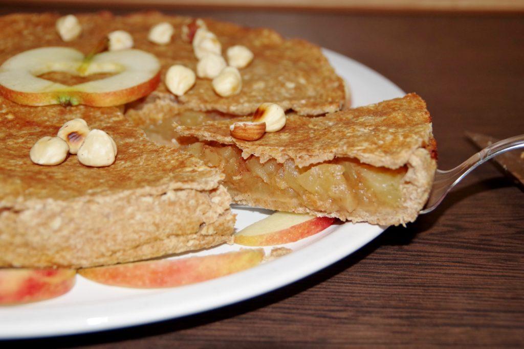 gedekter Apfelkuchen vegan zuckerfrei