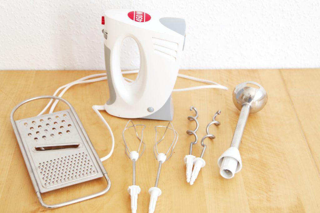 Alternative zur Küchenmaschine: Handrührgerät, Pürierstab und Reibe