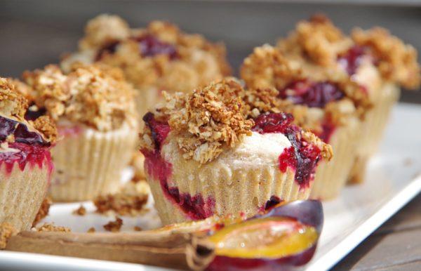 Muffins Zwetschgen vegan ohne Zucker
