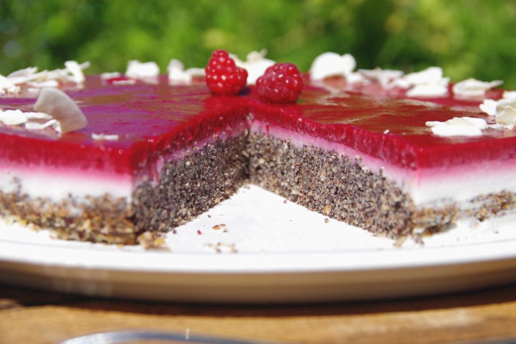 Himbeer-Mohn-Kuchen