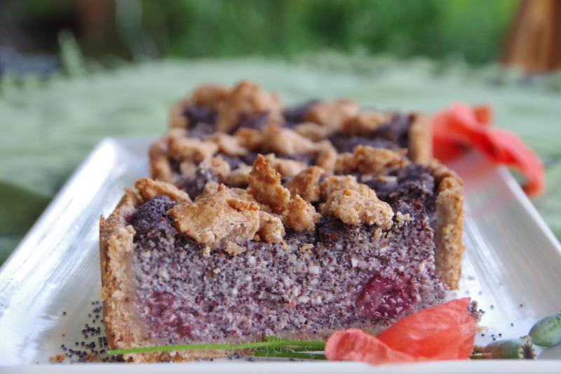 Mohnkuchen vegan ohne Zucker
